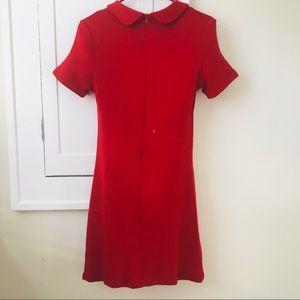 Modcloth Dresses - Red ModCloth 60s Dress Peter Pan Collar Sabrina